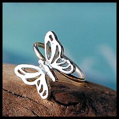NEW ITEM - Cartilage Earring / Tragus Hoop / Helix Hoop / Butterfly / Sterling Silver. $17.95, via Etsy.
