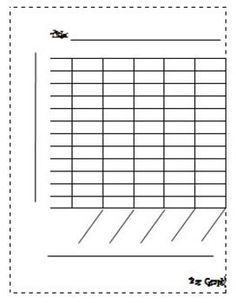 Blank Bar Graph Template More