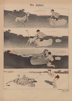 Töpfferiana » Blog Archive » Simplicissimus, année I Ferdinand Reznicek, « Die Sphinx », Simplicissimus, n° 9, du 30 mai 1896.