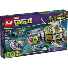 Buy LEGO Teenage Mutant Ninja Turtles Undersea Chase 79121 - Find a superb collection of toys and games from Hamleys. We offer fast, efficient delivery on a wide range of toys and games, all available with premium gift wrapping! Teenage Mutant Ninja Turtles, Lego Ninja Turtles, Buy Lego, Shop Lego, Lego City, Building Toys, Legos, Lego Christmas, Christmas Gifts