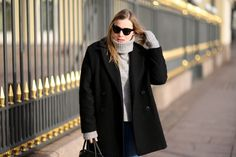 Grey turtleneck sweater #hermes #bolide #otherstories  #mango #zara #styleblogger