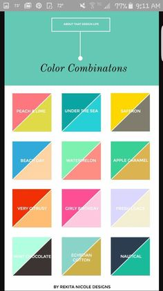 color combinations for small business logos and websites. LOVE the pink and green! M :: 2 Color Combinations — Rekita Nicole Colour Pallete, Colour Schemes, Color Combos, Color Patterns, Best Color Combinations, Color Palettes, Color Mixing Chart, Clothes Combinations, Color Pairing