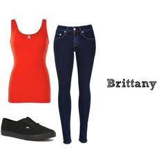 Outfit inspired by Brittany, Glee by nikuska8382 on Polyvore featuring BKE, rag & bone and Vans