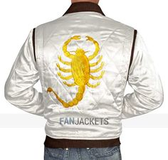 This Drive #Jacket from the movie titled, Drive can be a new kind of outfit for you to wear. FANJACKETS.COM