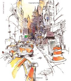 Urban Watercolor Sketching: A Guide to Drawing, Painting, and Storytelling in Color - Felix Scheinberger - Livres