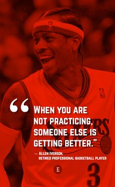 "#morningthoughts #quote ""When you are not practicing some one else us getting better"""