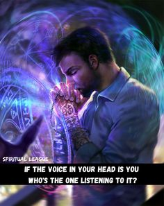voice in head - If the voices in your head is you , who's the one listening to it ? Spiritual leagueSpiritual League voice in head Spirit Quotes, Meditation Quotes, Your Head, Sweet Words, Getting To Know You, Spiritual Awakening, Self Improvement, The One, Spirituality