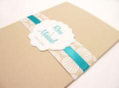 Pocketfold Wedding Invitation Suite Sea by JutingDesignStudio, $3.75