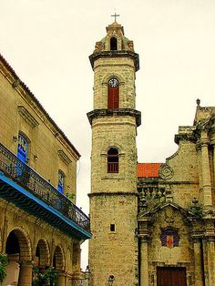 the top of Plaza de Cathedral Havana, Cuba