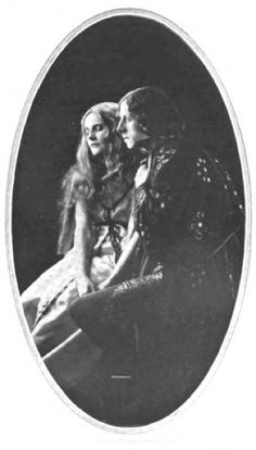 """The Two Lovers Giannetto and Ginevra (Mr. Ernest Thesiger and Miss Cathleen Nesbitt) """"The Love Thief"""" 1921"""