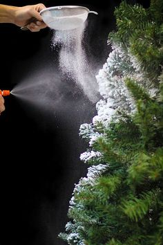 Learn how to easily flock your own Christmas tree using Sno-Flock! This project allows you to create the look of a beautiful snow covered tree, easily.