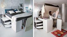 Una fabrica de muebles italianos creó lo que en el mercado se llama 'Container Bed', se trata de una cama normal que incluye un espacio de almacenamie...