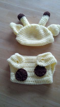 Cute giraffe baby hat and diaper cover - get yours at https://www.etsy.com/listing/204428115/crocheted-giraffe-hat-and-diaper-cover?ref=shop_home_active_7