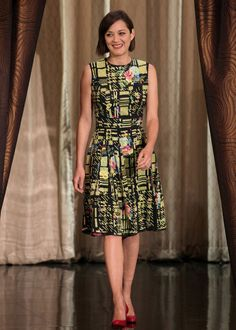 Marion Cotillard in Erdem on Conan | Tom + Lorenzo