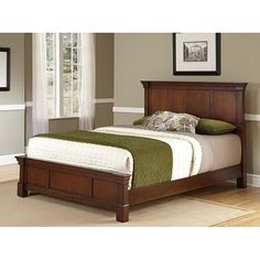 The Aspen Rustic Cherry Collection King Bed by Home Styles