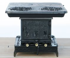 Antique Very Rare Garland Oil Stove Made by Barstow Stove Company Restored to its Beauty with Original 2 Rack Oven & A Flat Iron Heater $1,950.00