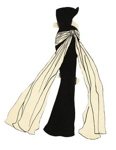 The Bowes Museum is hosting the U.K's first retrospective of Yves Saint Laurent's work Fashion Prints, Fashion Art, Fashion News, Fashion History, Fashion Illustration Sketches, Fashion Design Sketches, Illustrations, Yves Saint Laurent, Ysl