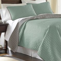 Robyn Reversible Coverlet in Jade  at Joss and Main
