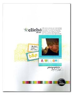1 photo + frame + white space + minimal #scrapbook #simple #layout
