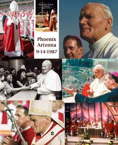 Pope John Paul II's 24-hour visit  included a papal address and ecumenical prayer service at Ss. Simon and Jude Cathedral plus meetings with staff from Catholic hospitals and Native Americans at Veterans Memorial Coliseum. The pope also celebrated Mass for nearly 80,000 people at Sun Devil Stadium.