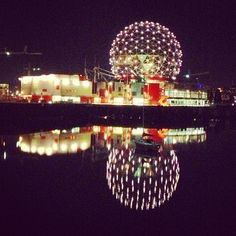 Science World at TELUS World of Science in Vancouver, BC. Basically we would always go here on field trips in elementary school. Vancouver Tourism, Field Trips, Elementary Schools, Four Square, Christmas Bulbs, Places To Visit, Wanderlust, Science, Holiday Decor
