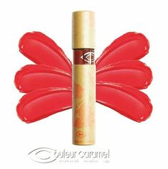 Couleur Caramel lip gloss made with organic castor oil, Karanja Oil and Rooibos Tea extracts