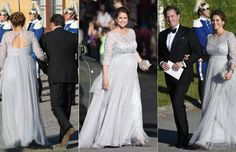 A very pregnant (as in any minute now) Princess Madeleine and her husband Christopher O'Neill arrive at the pre-wedding dinner and cruise of her brother, Prince Carl Philip, 12 June 2015.
