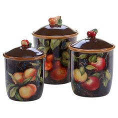 home interiors sonoma villa canisters set of 3 canister sets