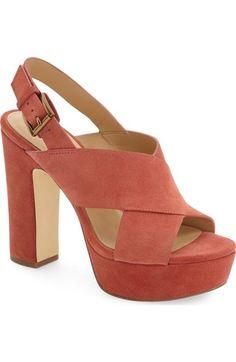 8a762c14905 Women s Brandi Quarter Strap Sandals - Mossimo Supply Co. Cognac (Red) 5.5