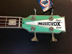 "Musicvox Space Cadet 34"" Limited Custom Bass 1 Of 4 Seafoam Green & Stripe"