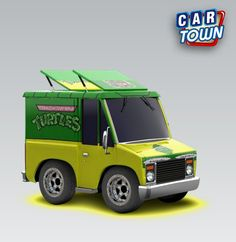 Turtle Van skin I made for the Taco Truck on Car Town.  https://www.facebook.com/pages/The-Nerd-Rave/113442648801172