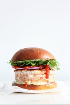 Japanese fish burger #instamburger