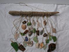 Beach Seaglass Suncatcher/Windchime Pottery by CrystalsSeaglass, $38.00