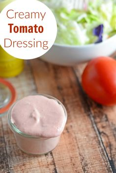 Creamy Tomato Salad Dressing Recipe - this homemade salad dressing can also be used to baste veggies on the grill or as a dipping sauce for a veggie tray. Uses fresh tomatoes with zesty lemon juice and Dijon mustard. www.savoryexperiments.com