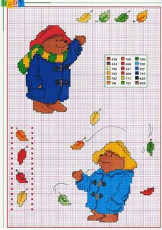 Gráficos ponto cruz da drica: Paddington bear