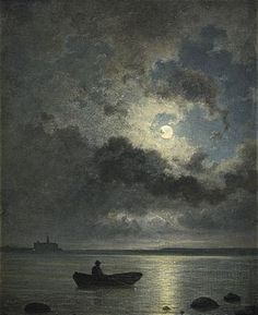 Classic Art, Art Painting, Moon Art, Art Photography, Renaissance Art, Moonlight Painting, Night Art, Landscape Art, Aesthetic Art