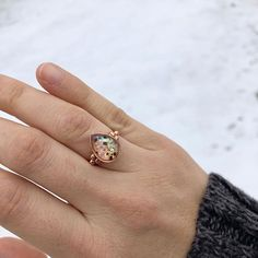 {momma share} Swooning over this snowy capture we had in our inbox this morning. THIS is why I love umbilical keepsakes. I just adore the sparkly speckled appearance of the stones. Set here in solid rose gold. Thanks momma! I hope this ring helps hold Breastfeeding Art, Jewelry Crafts, Handmade Jewelry, Swooning Over, Keepsakes, Sapphire, Milk, Stones, Rose Gold