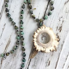 Deer Antler Necklace - Bohemian Necklace - Horn Necklace - Antler Jewelry - Tine Designs by Mindi - Bone Jewelry - Nature Jewelry