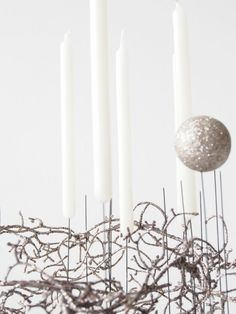 DIY concrete decoration for Christmas - Make a modern table decoration, full tutorial on how to cast with concrete. Christmas Candle, Christmas Makes, Diy Christmas, Diy Concrete, Modern Table, Monster, Candles, Holidays, Table Decorations