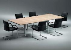 System - conferentietafel met 2 geëpoxeerde kolompoten en HPL blad (design by Drisag)