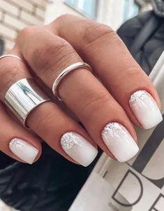 Wedding Gel Nails, Wedding Nail Colors, Wedding Pedicure, Wedding Nails For Bride, Wedding Nails Design, Bride Nails, Nails For Brides, Winter Wedding Nails, Beach Wedding Nails