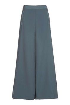 Instead of black skinnies, try powder-blue wide-leg pants that'll look just as good with any pick from your sweater stash.Topshop Palazzo Trousers, $100, available at Topshop. #refinery29 http://www.refinery29.com/2016/09/124841/fall-colors-clothing-trends#slide-11