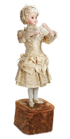 French Bisque Musical Automata 1890. http://Theriaults.com/
