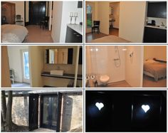 7e slaapkamer van vakantiehuis Auberge Le Barrage. Deze slaapkamer is rolstoelvriendelijk en heeft ook een eigen badkamer.