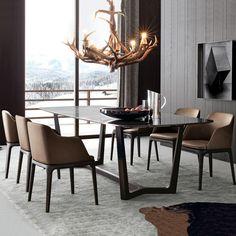 北欧实木餐桌简约现代大理石餐桌水曲柳全实木现代餐桌椅极美家具-淘宝网