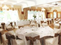 Glenview Hotel & Leisure Club Delgany, Wicklow The Glenview Hotel & Leisure Club is ideally located over looking the Glen O'The Downs in the 'Garden of Ireland', County Wicklow Places To Get Married, Wedding Venues, Table Settings, Table Decorations, Ireland, Club, Furniture, Garden, Home Decor