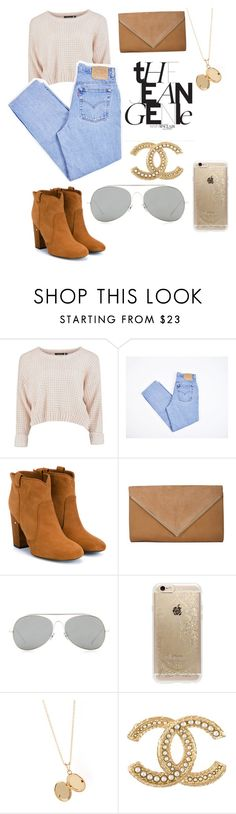"""""""Untitled #35"""" by dorothy-moore ❤ liked on Polyvore featuring beauty, Levi's, Laurence Dacade, Acne Studios, Rifle Paper Co, Dollhouse and Chanel"""