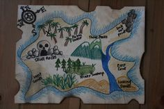 Fun pirate crafts for kids, and pirate activities for talk like a pirate day. Also get pirate themed printable packs Treasure Maps For Kids, Pirate Treasure Maps, Treasure Hunt Games, Pirate Maps, Pirate Theme, Buried Treasure, Pirate Box, Treasure Hunting, Pirate Birthday