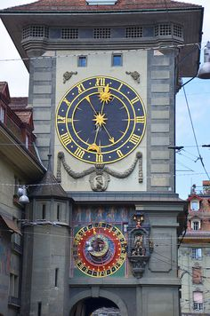 The Zytglogge in Bern, Switzerland, a famous astronomical clock (and its tower.)