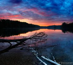 Sunrise at Nebish Lake (Northern Highland American Legion State Forest - Wisconsin) by Aaron C. Jors via flickr
